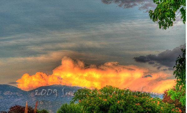 Sunset during monsoon season